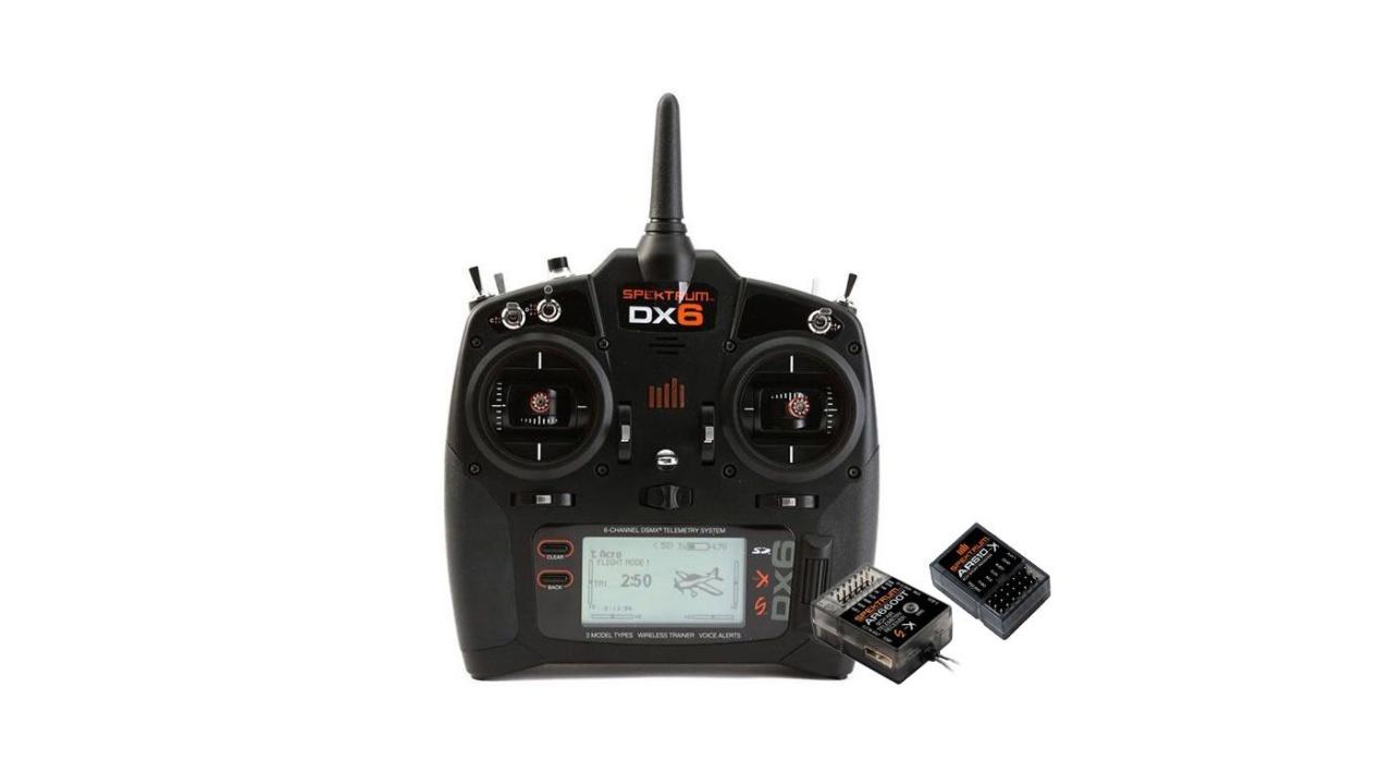 DX6 6-Kanal DSMX Fernsteuerung G3 mit AR6600T Empfänger