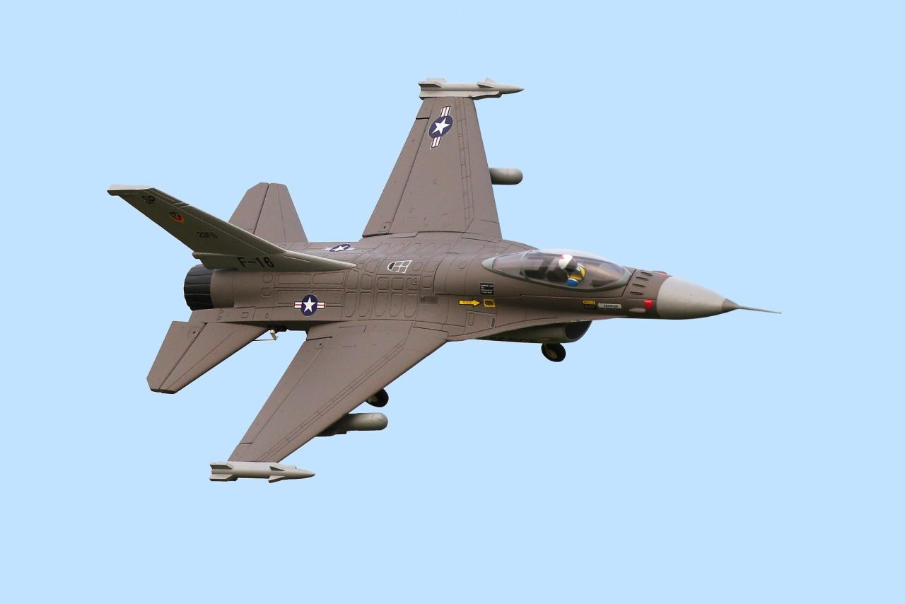 FMS F-16 V2 Jet EDF 64 PNP - 73 cm