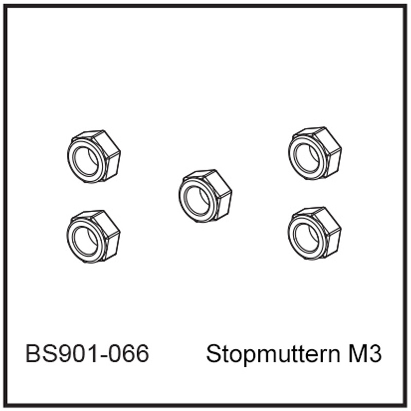 Stopmuttern M3 - BEAST BX / TX