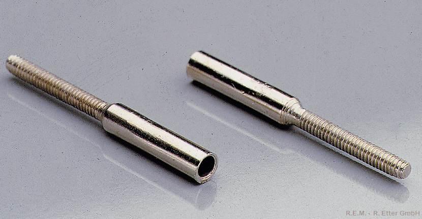 Löthülsen M 2 mit Bohrung 1,6 mm (10-er Packung)