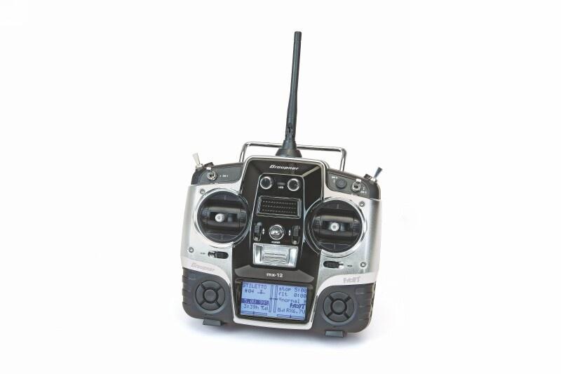 Graupner Fernsteuerungs-Set mx-12 HoTT, DE & Empfänger GR-12