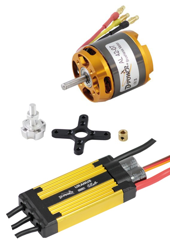 D-Power Brushless Set AL 42-07 & 65A URANUS Regler