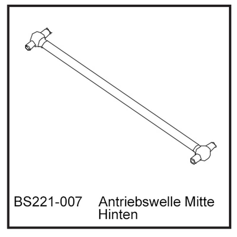 Antriebswelle Mitte Hi - BEAST BX / TX