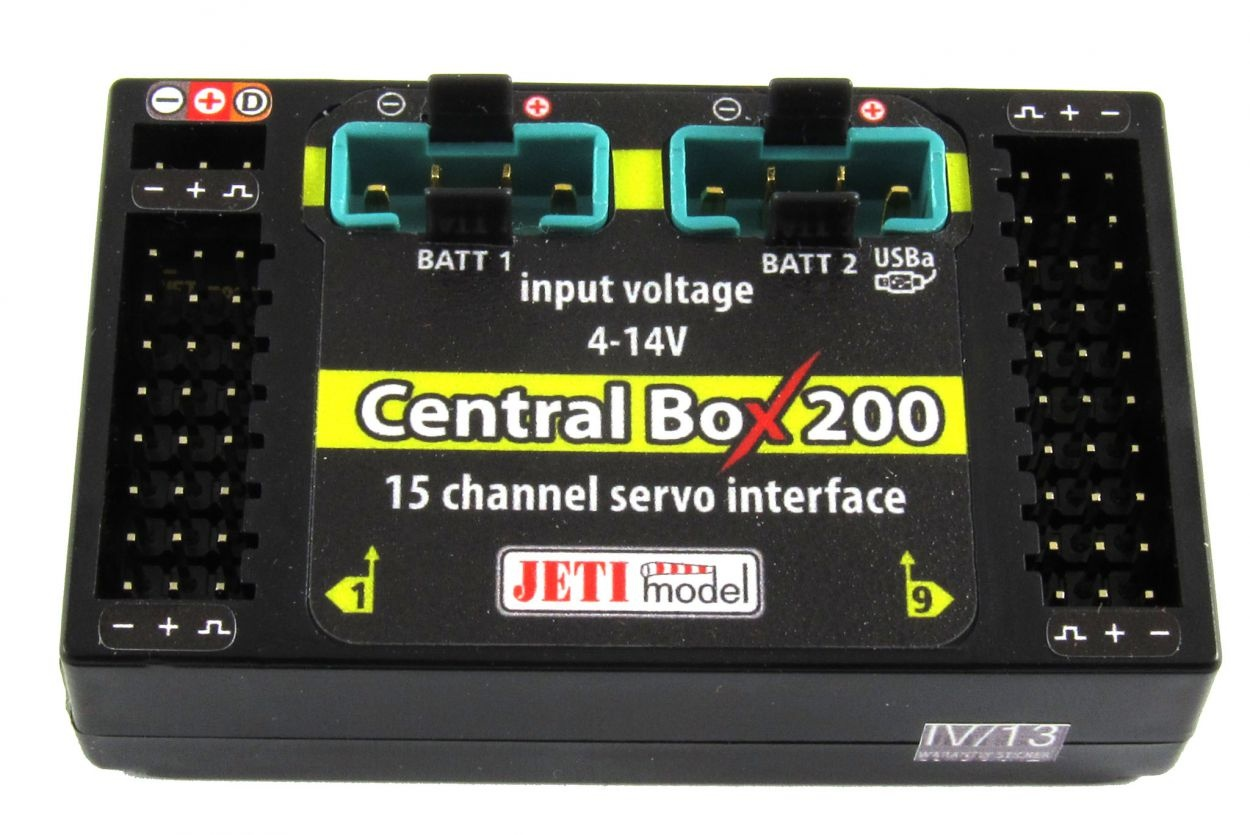 JETI Central Box CB200 + 2 RSat2