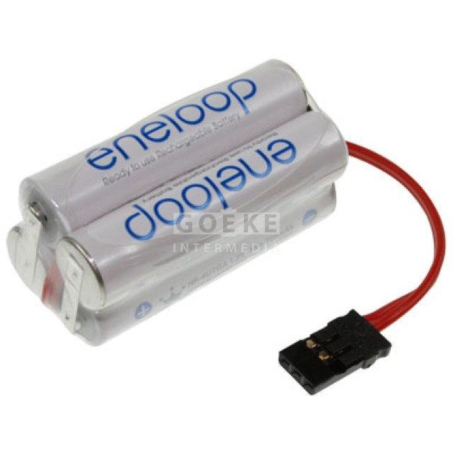 eneloop AAA-Würfel mit 4 Zellen 4,8 Volt 750 mAh