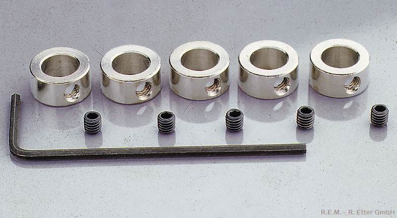 Stellring 3 mm mit Innensechskantschraube (5-er Packung)