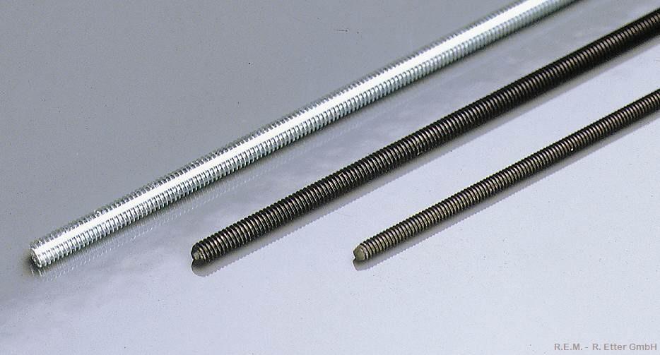 Gewindestange Stahl M 2x200 mm (1 Stück)
