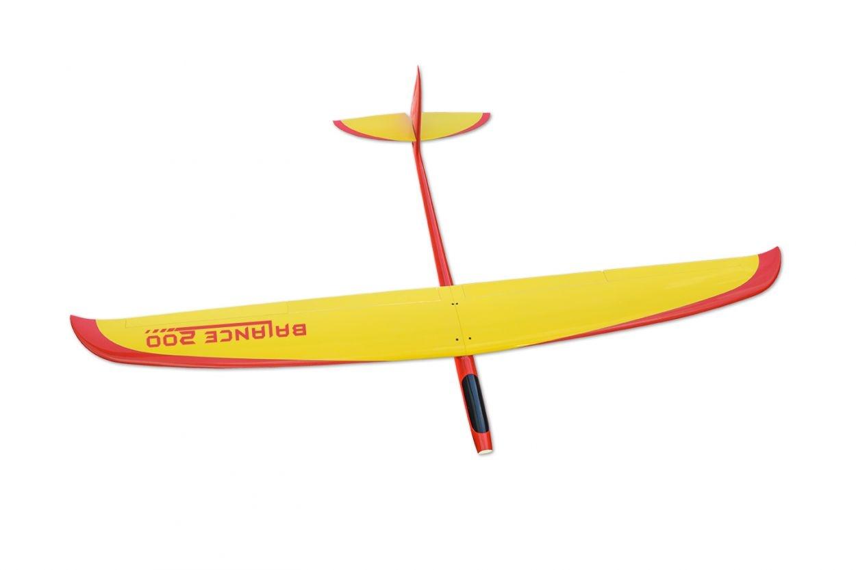 Balance 200, Gelb/Rot, Voll-GFK-Segler, 2m Spannweite
