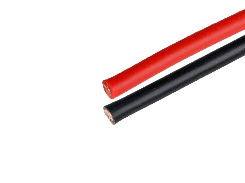 Silikonkabel 1,5 mm², schwarz / rot