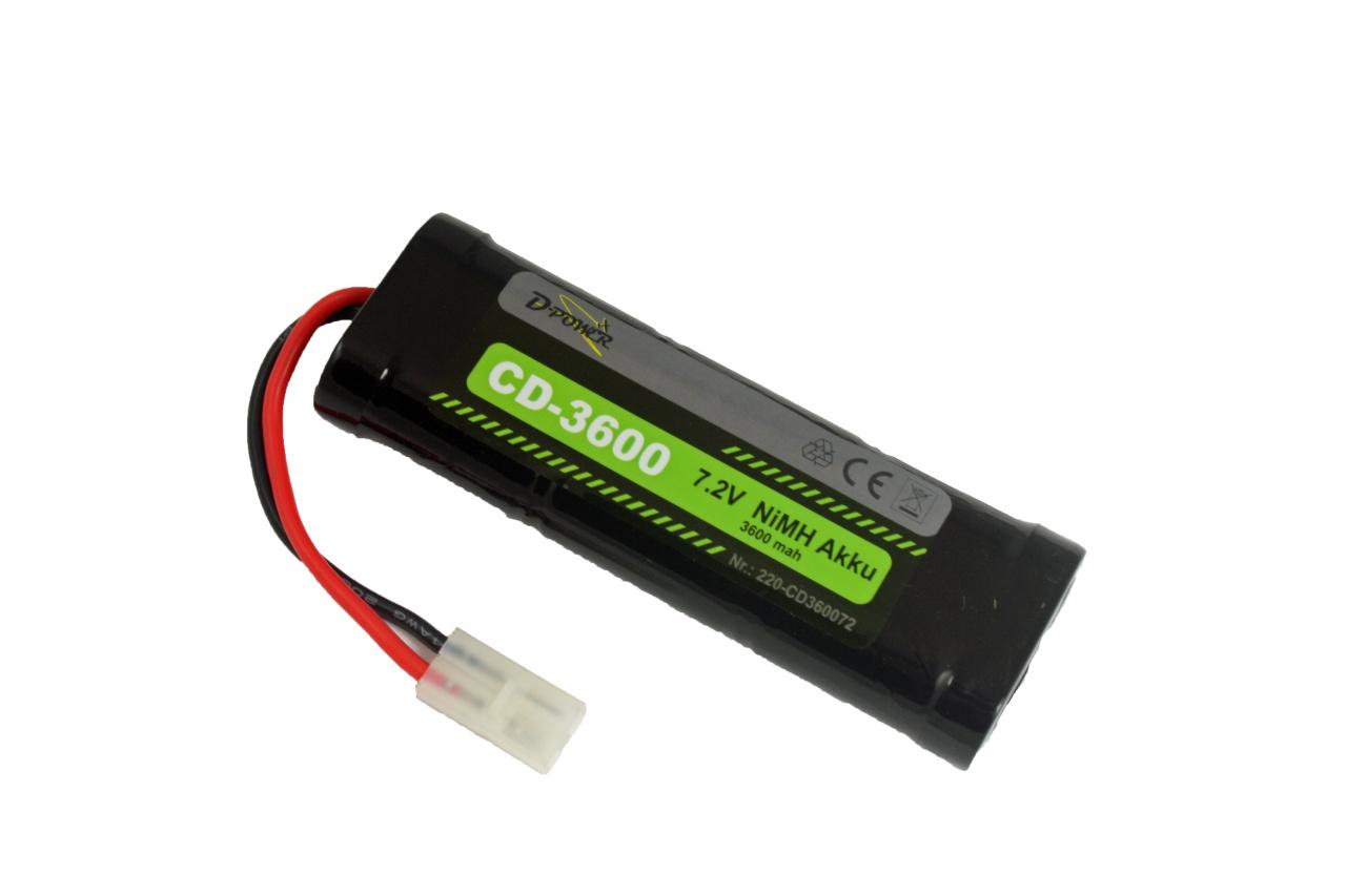D-Power CD-3600 7.2V NiMH Akku mit Tamiya-Stecker