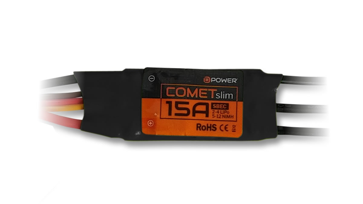D-Power Comet Slim 15A S-BEC Brushless Regler