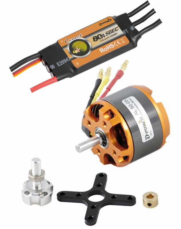 D-Power Brushless SET AL50-05 & 80A Comet Regler
