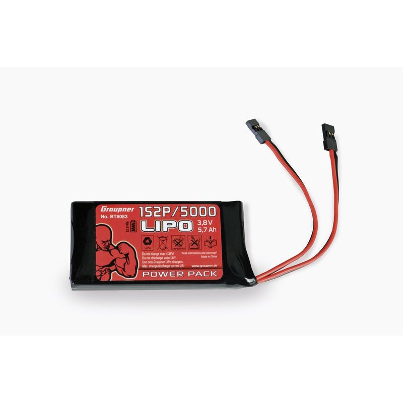 Graupner Senderakku LiPo 1S2P/5000 3,8 V TX 21Wh