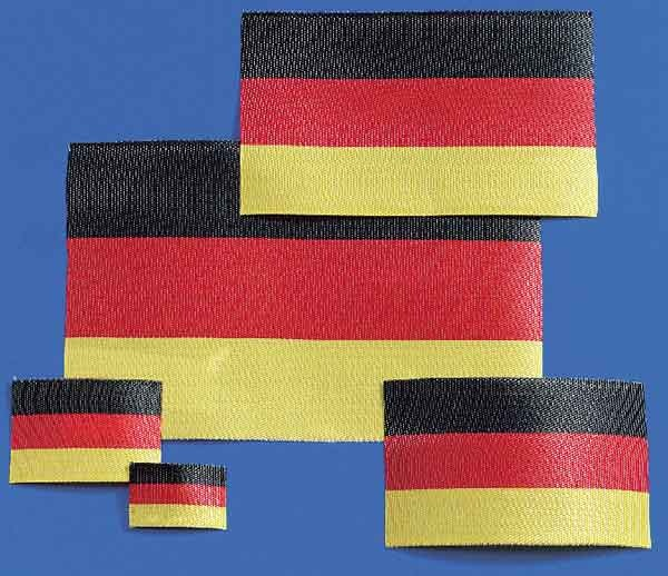 Krick Flagge Deutschland 25x38 mm 2 Stück