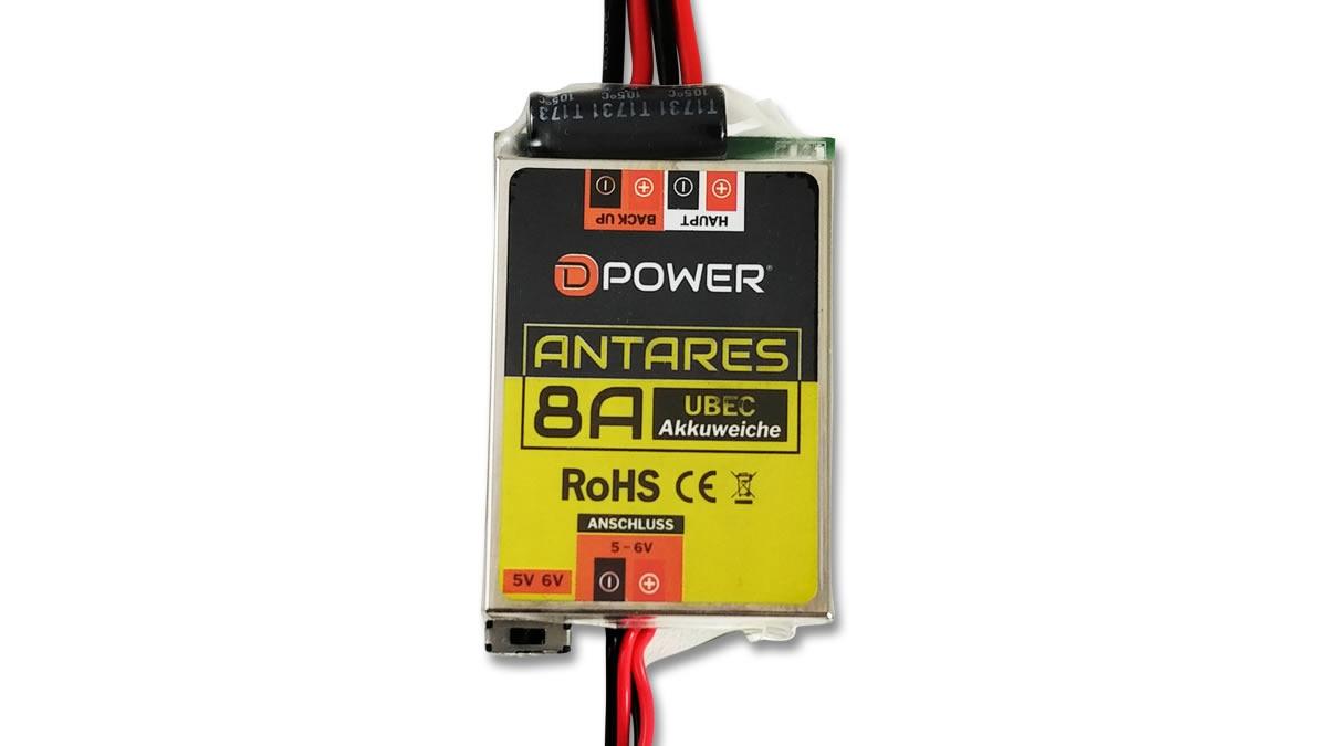 D-Power Antares UBEC 8A Akkuweiche
