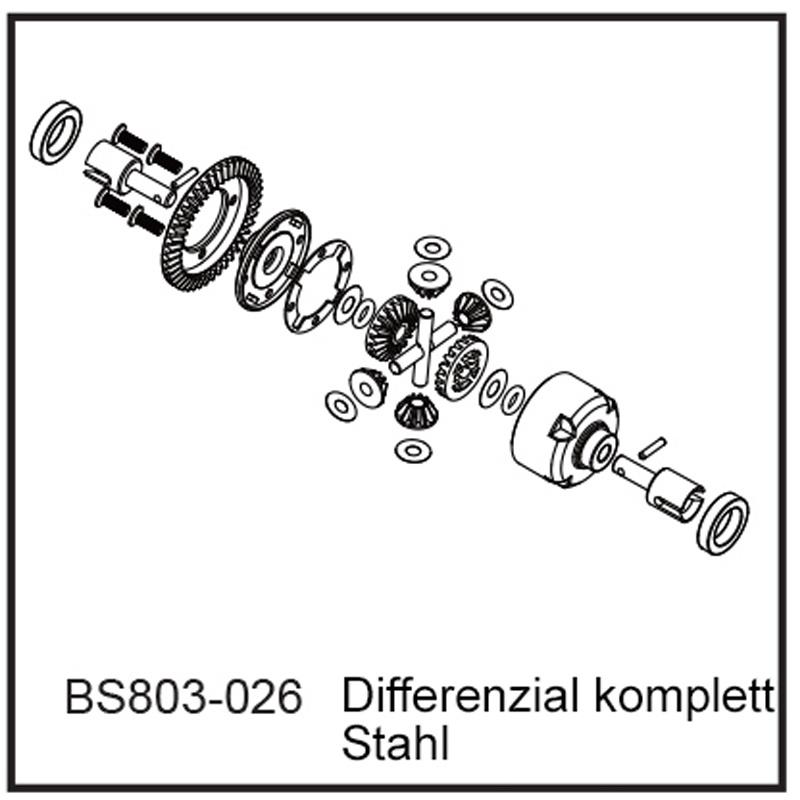Differenzial komplett - BEAST BX