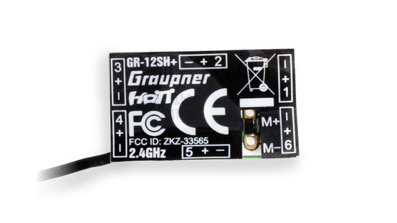 Graupner GR-12SH+ HoTT - 2.4 GHz Empfänger