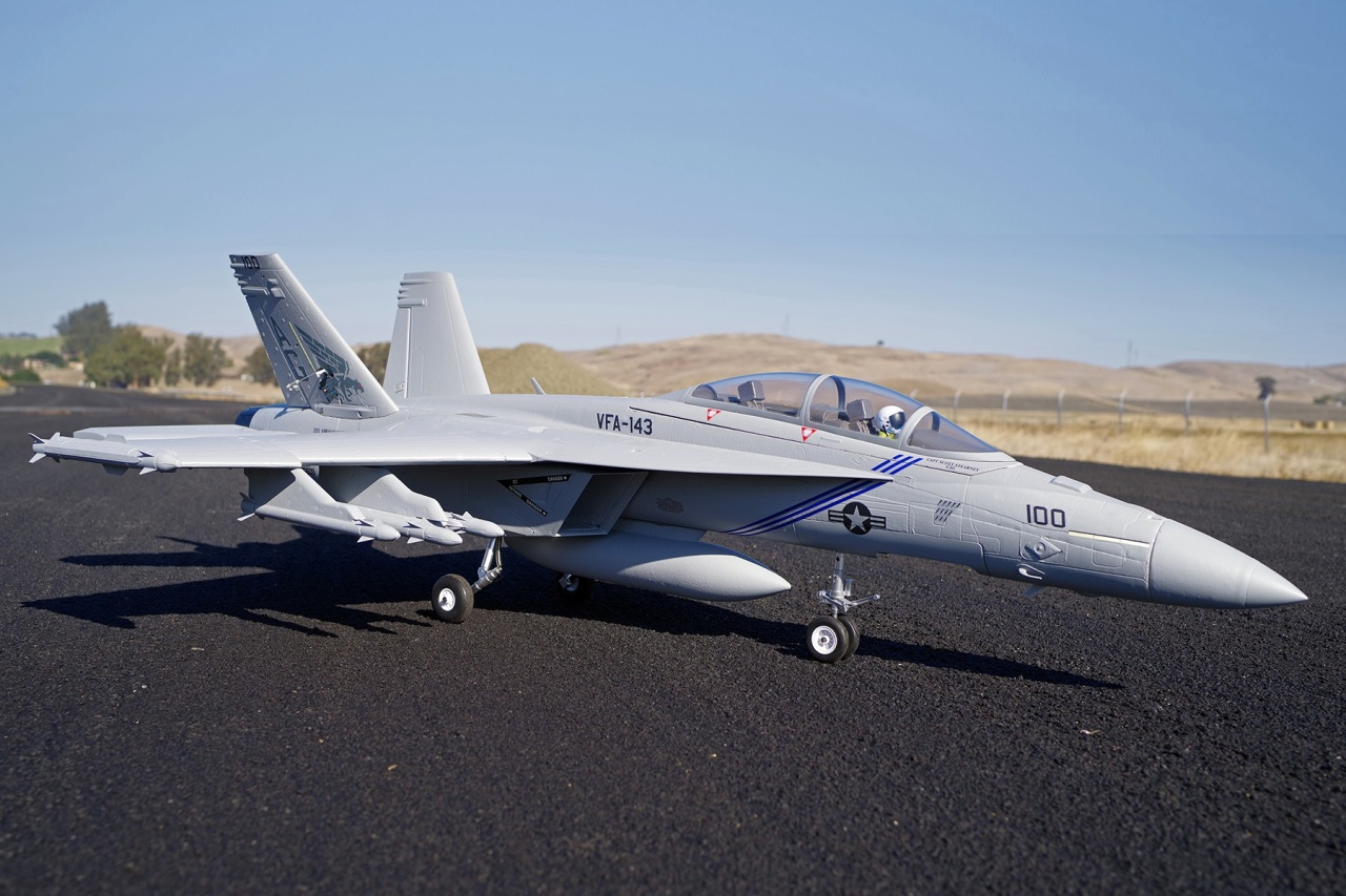 FMS F/A-18 Super Hornet Jet EDF 70 PNP - 87 cm