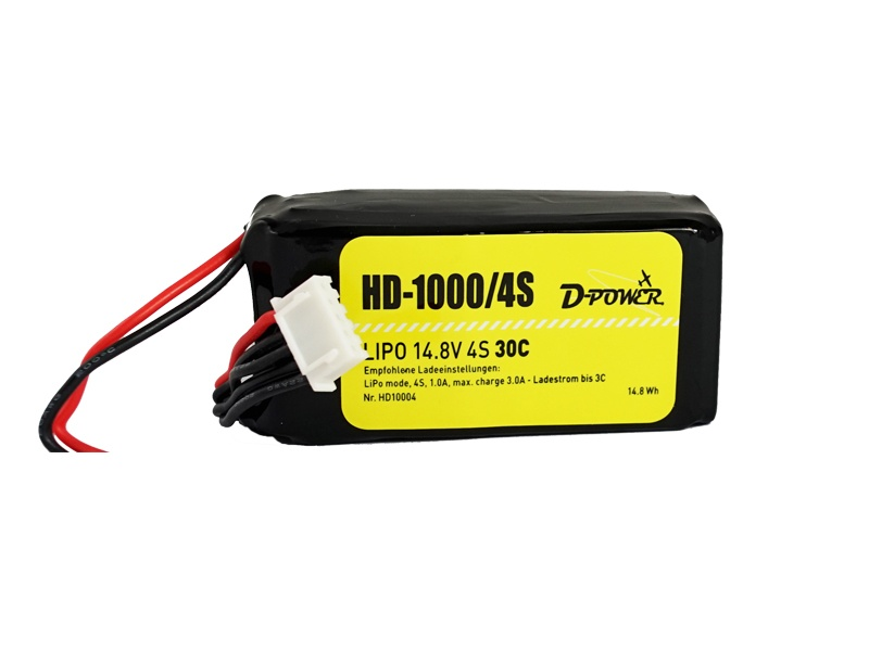 D-Power HD-1000 4S Lipo (14,8V) 30C - T-Stecker