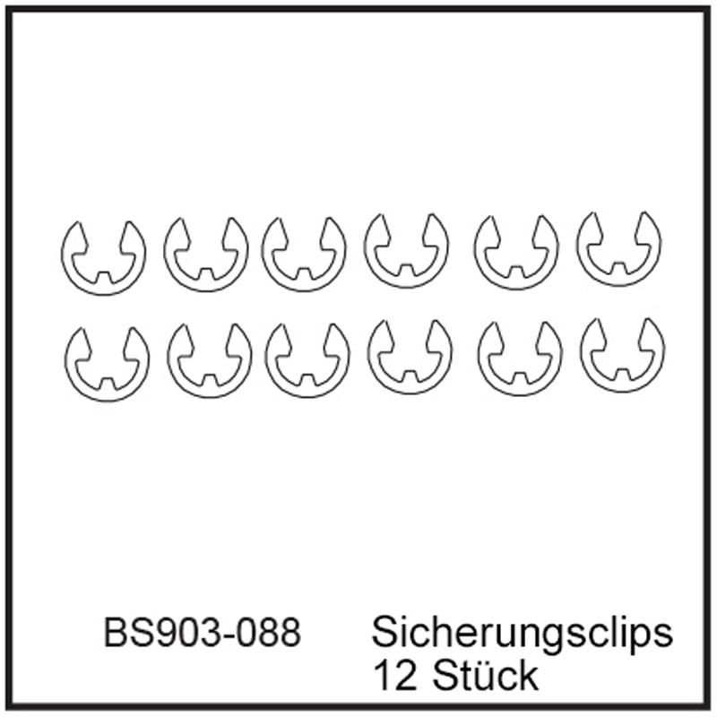 Sicherungsclips (12 Stück) - BEAST BX / TX