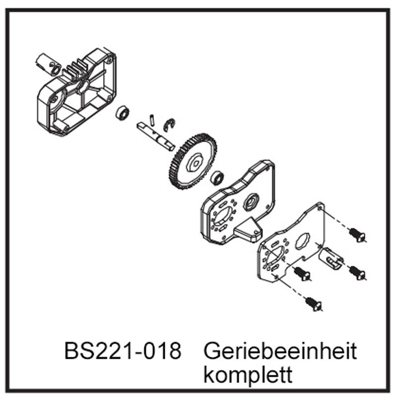 Getriebeeinheit komplett - BEAST BX / TX