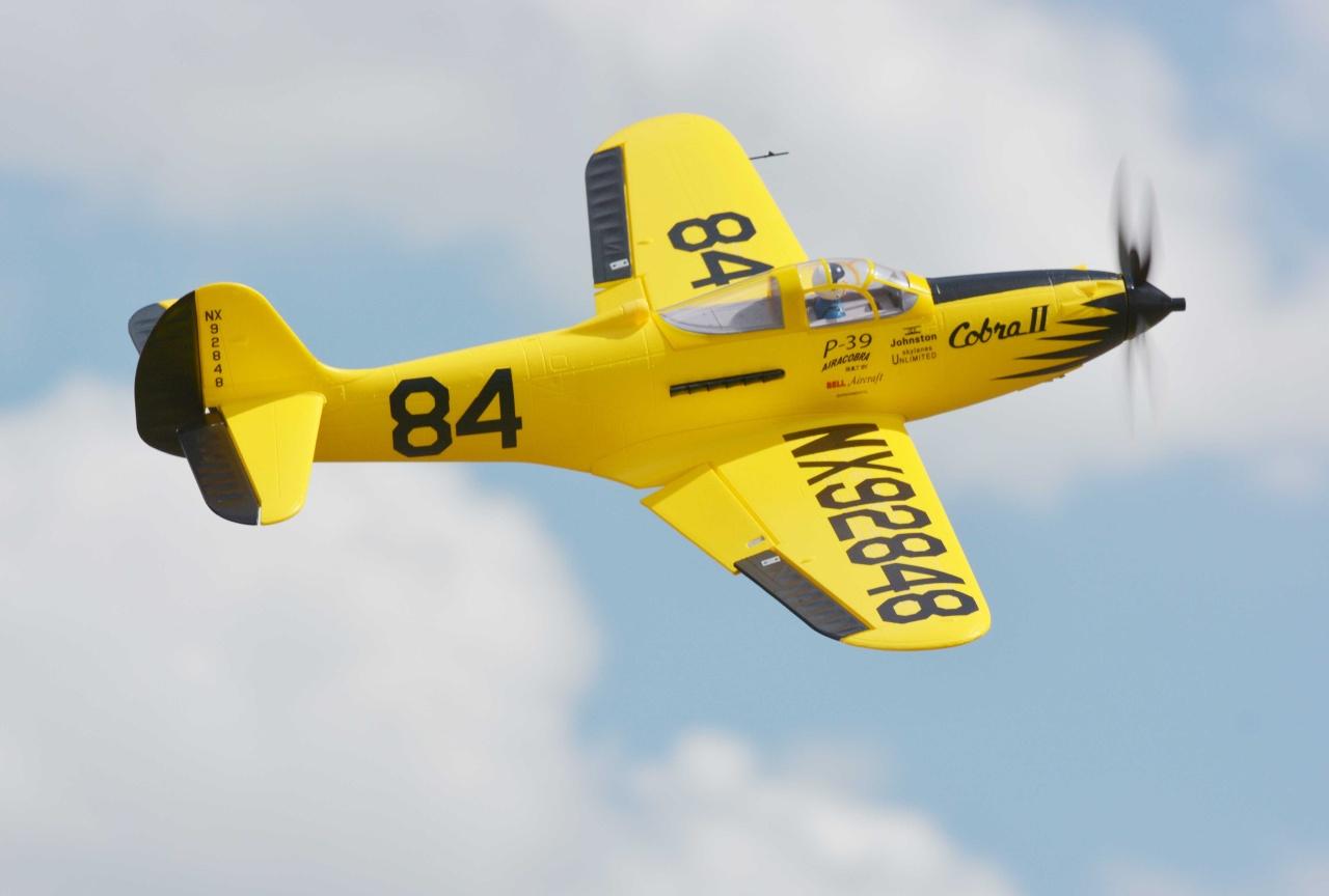 FMS P-39 Airacobra PNP - 98 cm