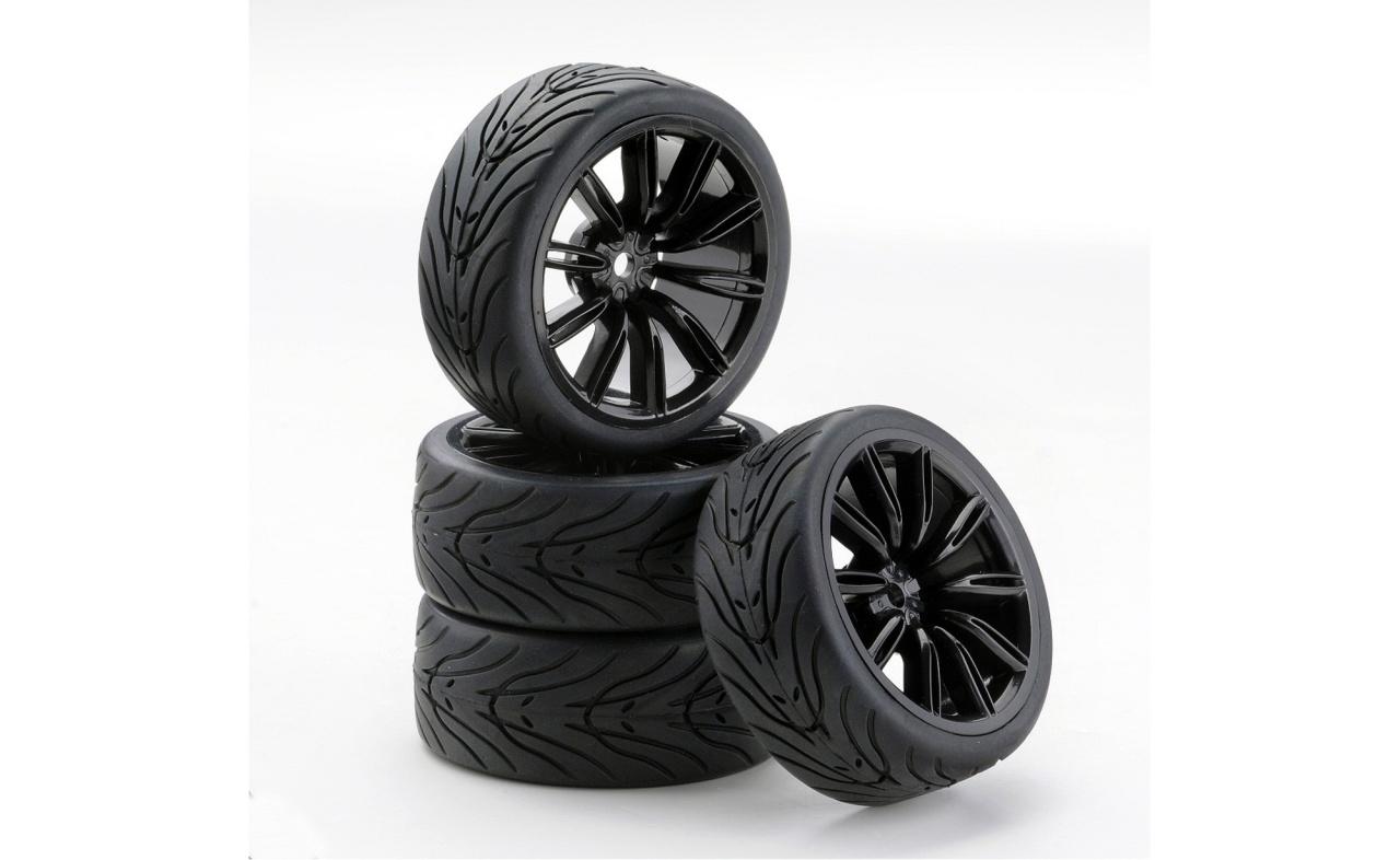 Carson 1:10 SC-Räder VINS Style schwarz (4)