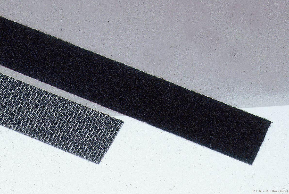 Klettband schwarz 25x250 mm
