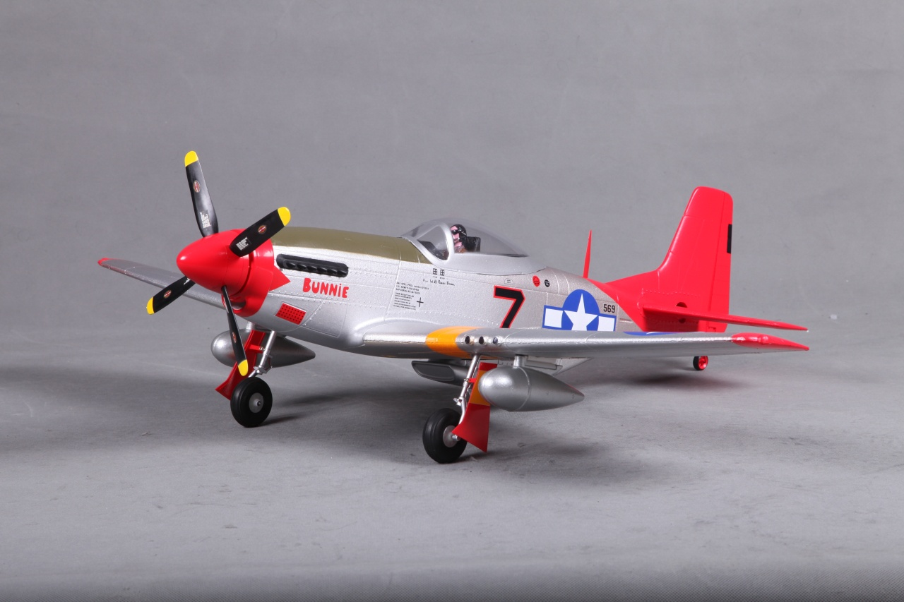 FMS P-51D Mustang V2 Red Tail PNP -  80 cm