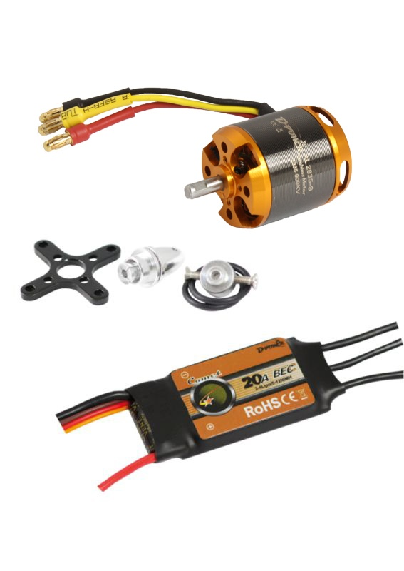 D-Power Brushless Set AL2835-9 & 20A Comet Regler