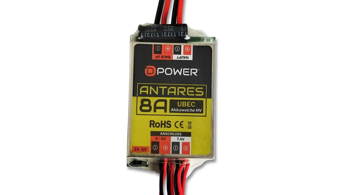 D-Power Antares UBEC 8A HV Akkuweiche