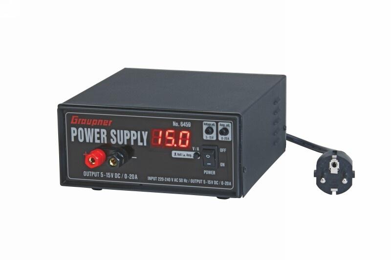 Graupner Schaltnetzteil regelbar 5 - 15 V, 0 - 20A