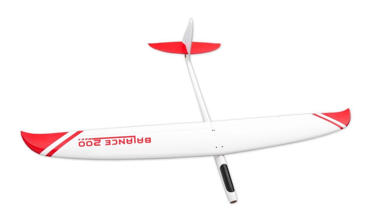 Balance 200, Weiß/Rot, Voll-GFK-Segler, 2m Spannweite