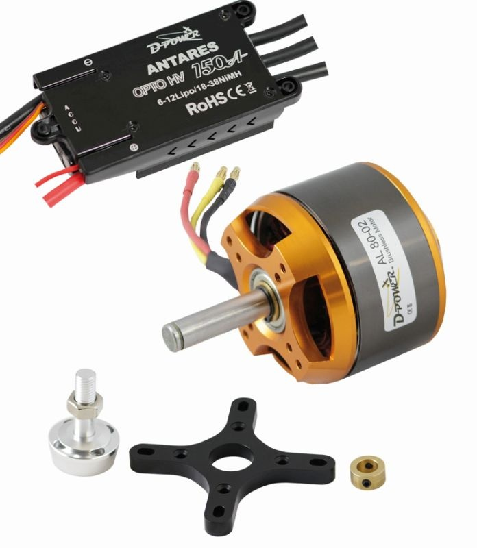 D-Power Brushless SET AL80-02 & 150A HV Opto Antares Regler