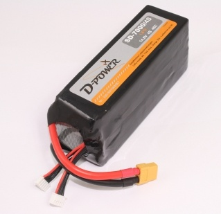 D-Power SD-7000 4S Lipo (14,8V) 45C - mit XT-60 Stecker