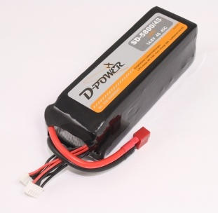 D-Power SD-5800 4S Lipo (14,8V) 45C - mit T-Stecker