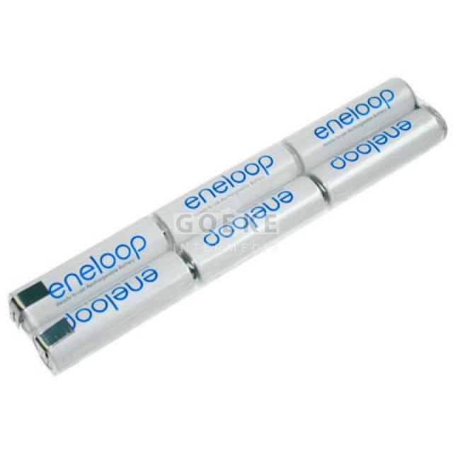 eneloop AA-Reihe mit 6 Zellen 7,2 Volt 1900 mAh