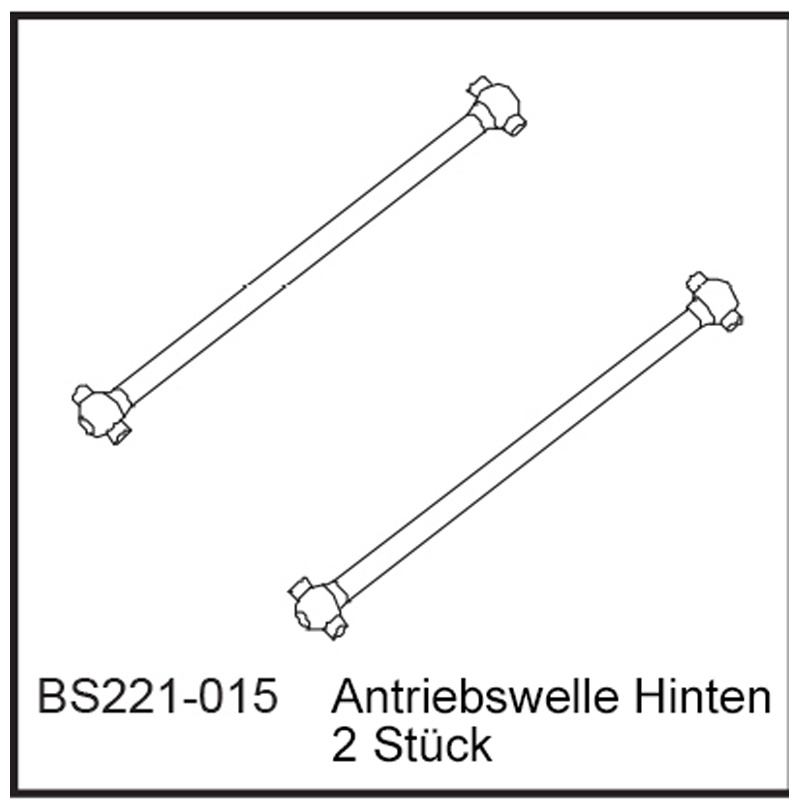 Antriebswelle Hi (2 Stück) - BEAST BX / TX