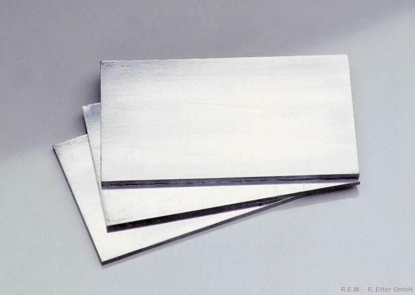 Walzblei 2x40x70 mm (4 Platten á 60 g)