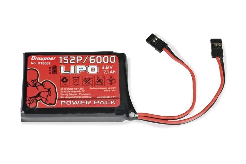 Graupner Senderakku LiPo 1S2P/6000 TX