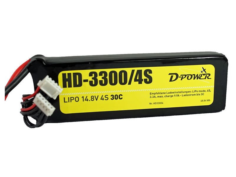 D-Power HD-3300 4S Lipo (14,8V) 30C - T- Stecker