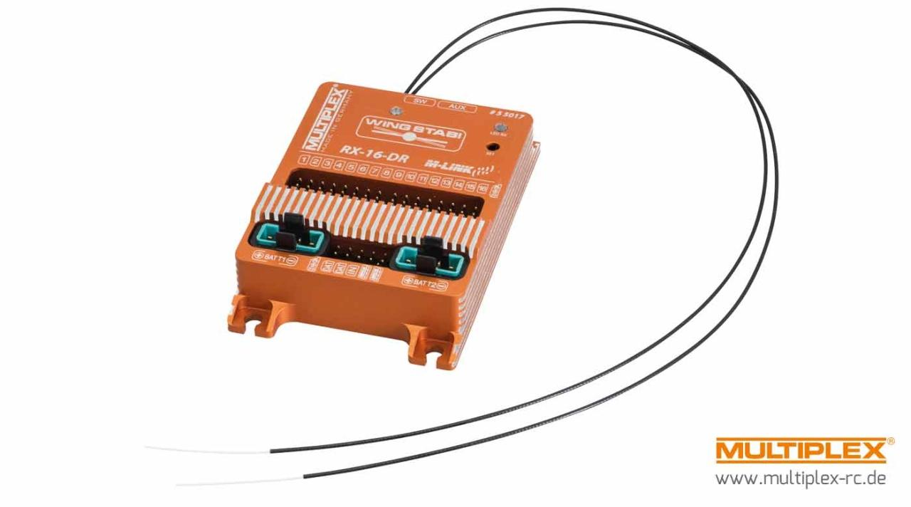 Multiplex WINGSTABI RX-16-DR pro M-LINK inkl. Akkuweiche 35A