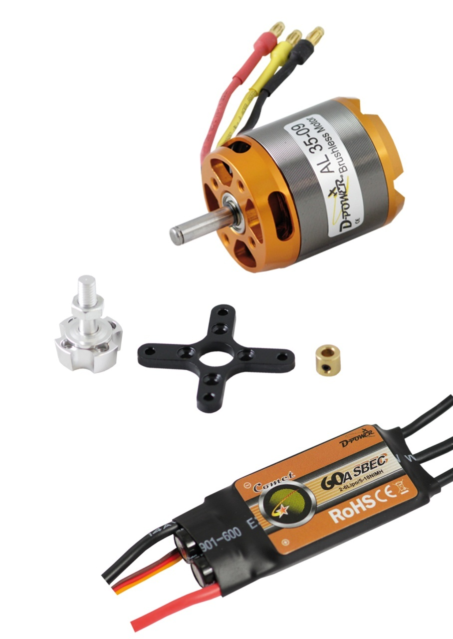 D-Power Brushless SET AL35-09 & 60A Comet Regler