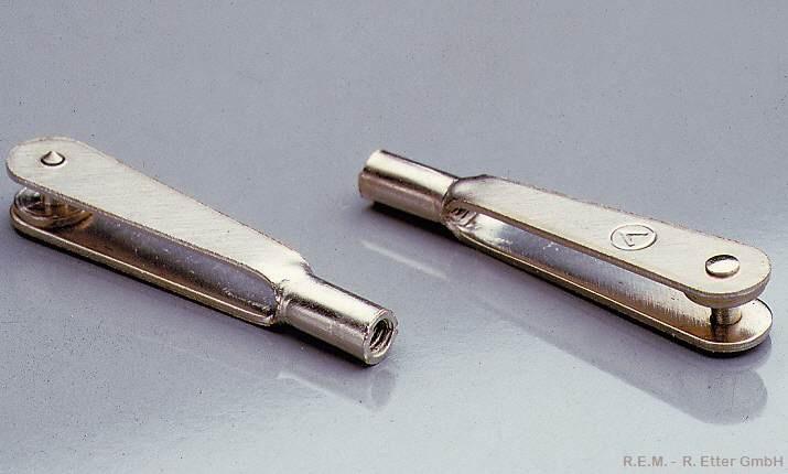 Gabelkopf Stahl M 3 (6-er Packung)