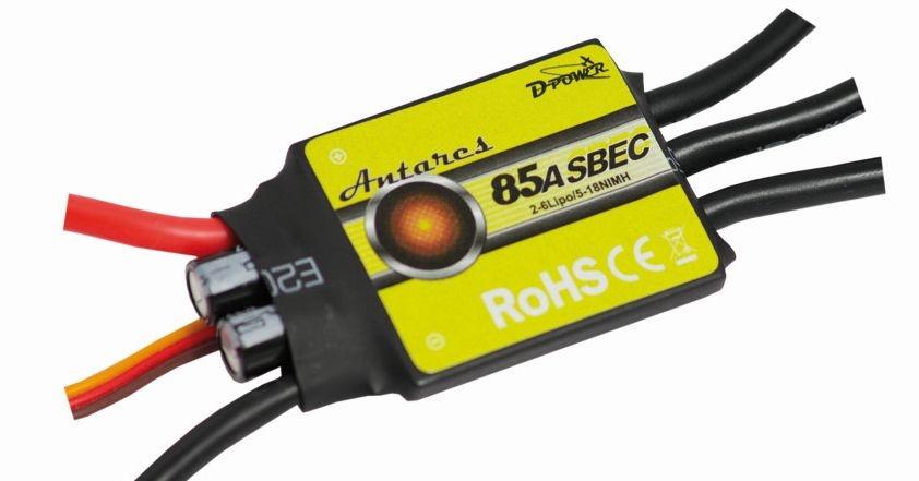 D-Power Antares  85A S-BEC Brushless Regler