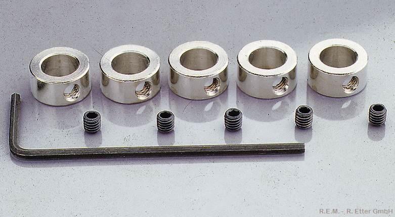 Stellring 2 mm mit Innensechskantschraube (5-er Packung)