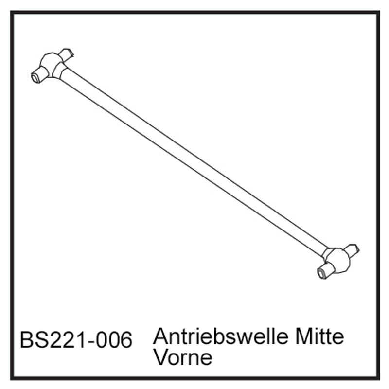 Antriebswelle Mitte Vo - BEAST BX / TX
