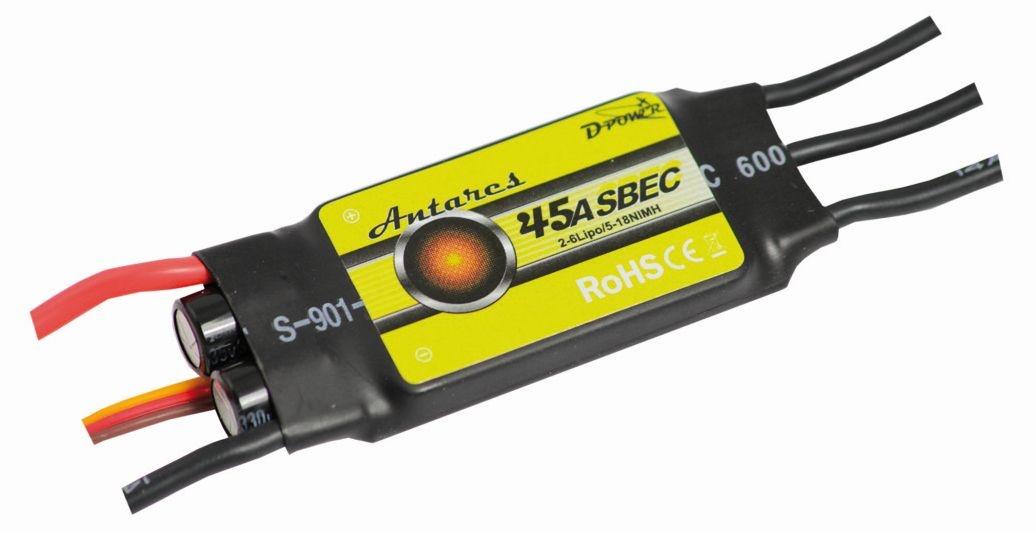 D-Power Antares 45A S-BEC Brushless Regler