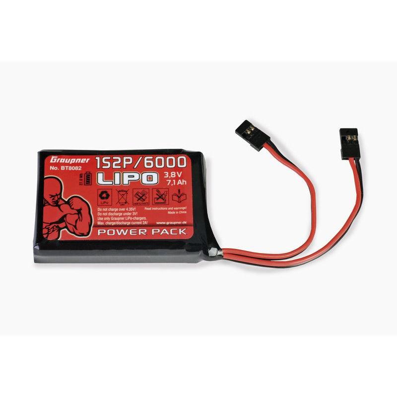 Graupner Senderakku LiPo 1S2P/6000 3,8 V TX 27Wh