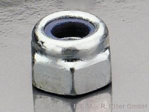 Stop-Mutter Stahl mit Kunststoffeinlage M 2,5 (10er-Packung)